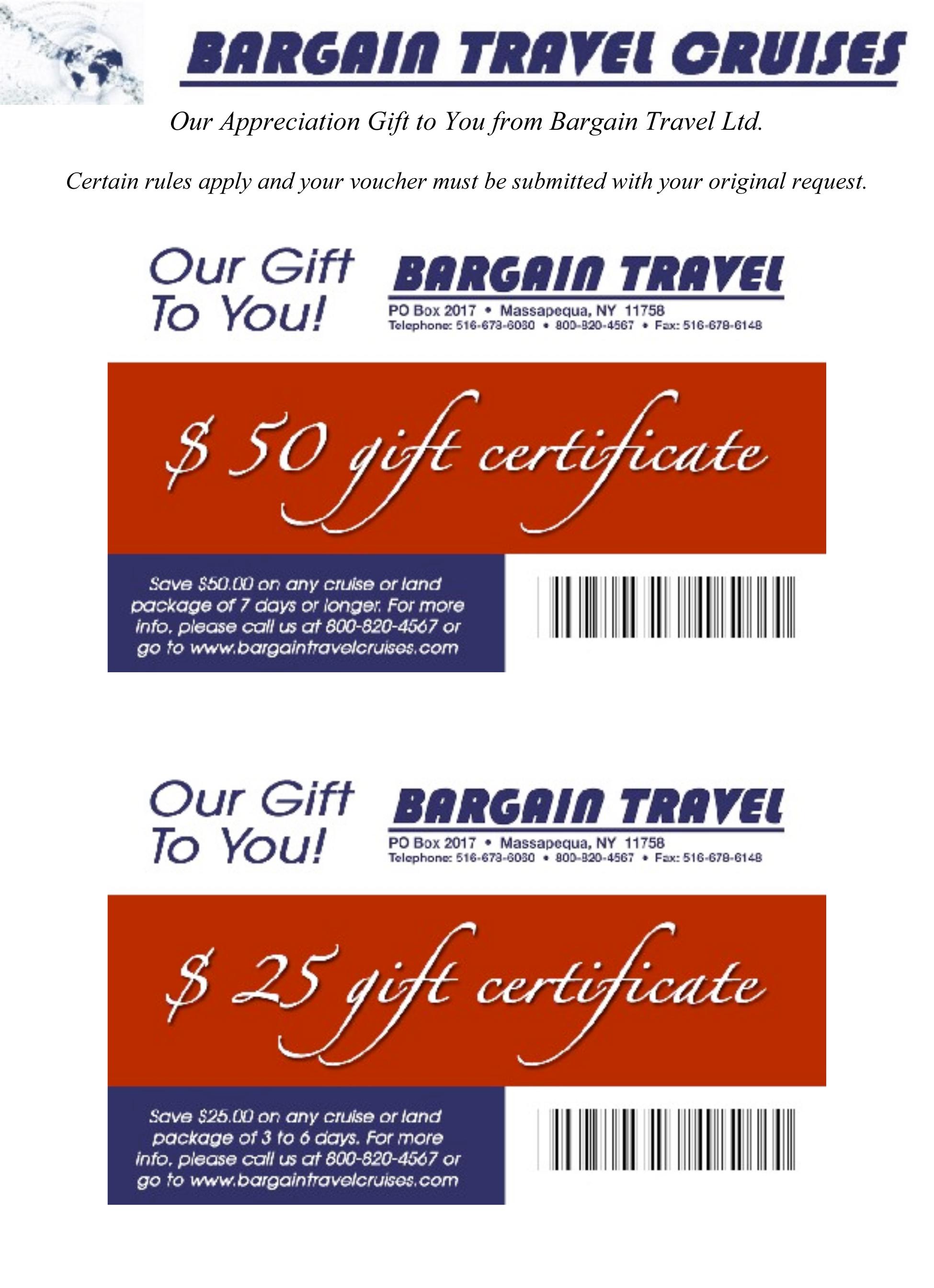 BT Gift Certificates [Dec 2012]