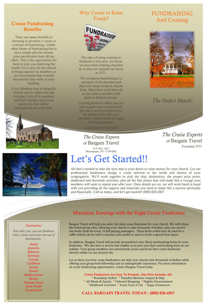 Church Fundraiser Brochure
